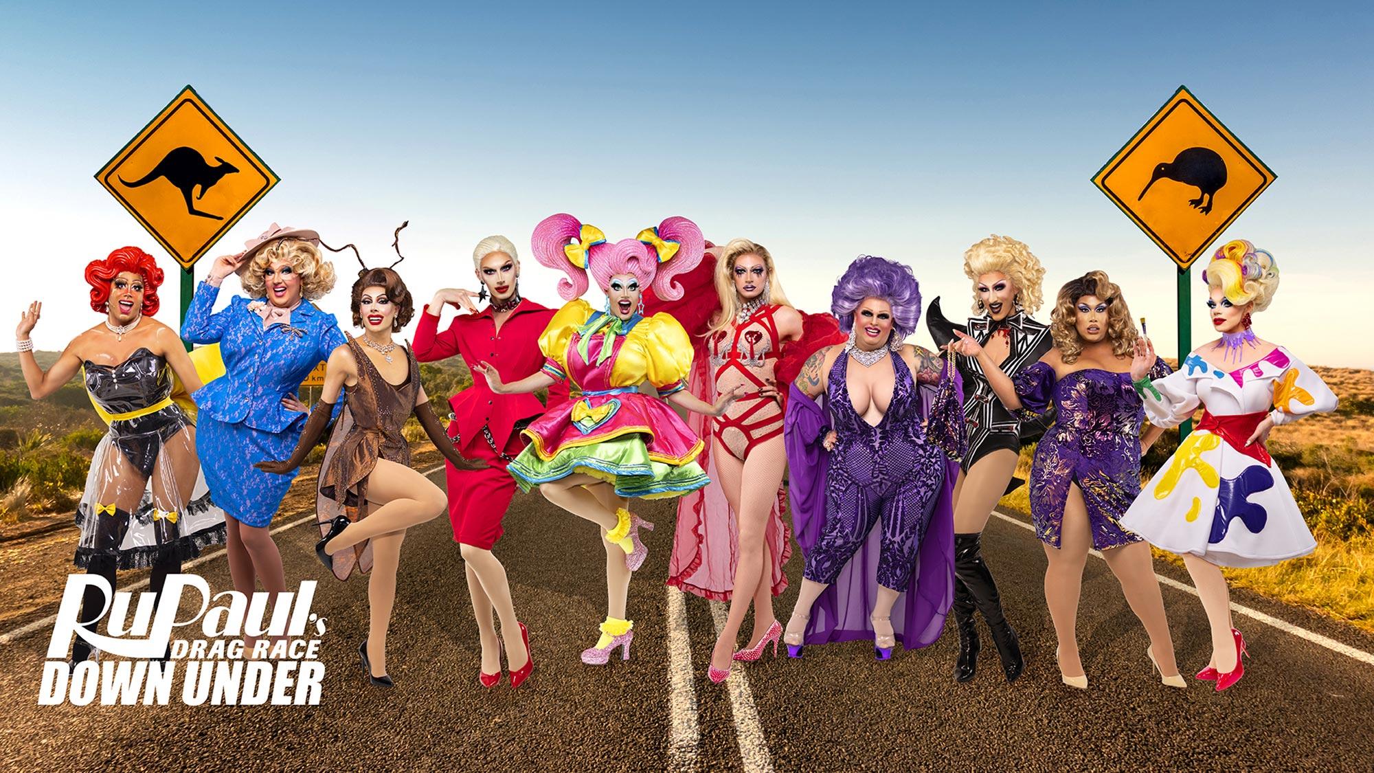Stan announces cast of RuPauls Drag Race Downunder at Mardi Gras.