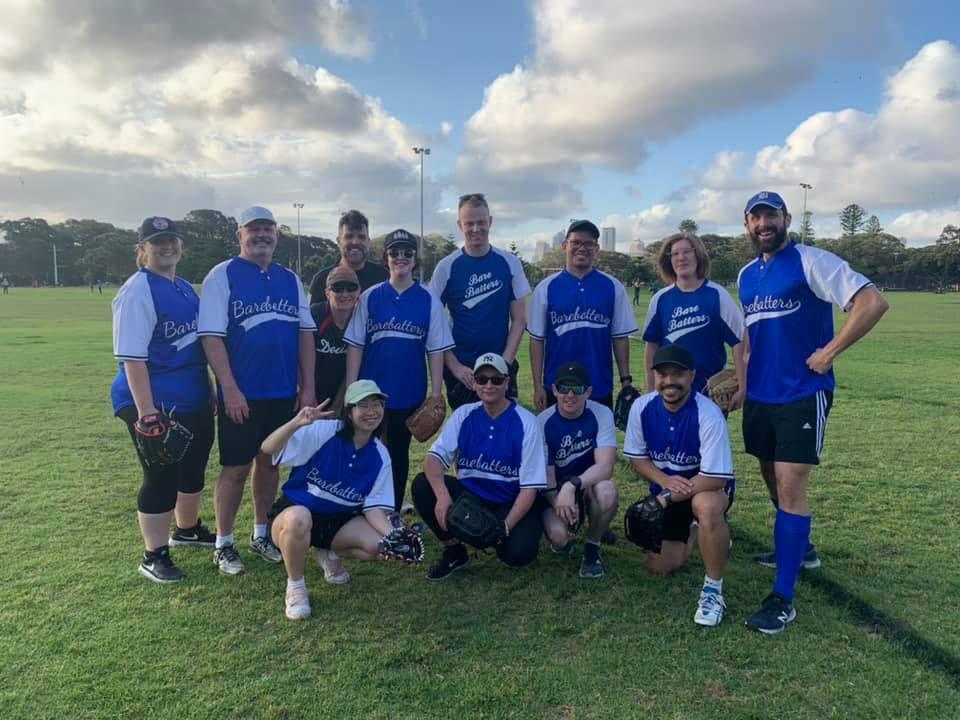 Sydney LGBTIQ allied softball training/social game